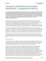 Nowotwory podścieliska w przewodzie pokarmowym ... - Radiolog.pl