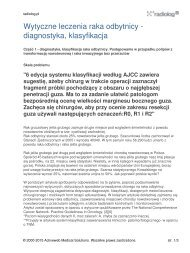 Wytyczne leczenia raka odbytnicy - diagnostyka ... - Radiolog