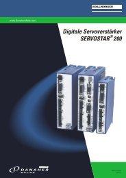 Digitale Servoverstärker SERVOSTAR 200 - Ebibus.sk
