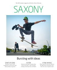 The 2015 summer magazine of the Free State of Saxony
