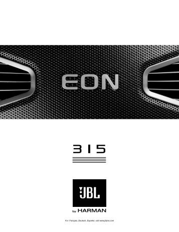 EON 315 English User Guide - JBL Professional