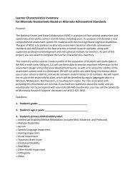 Learner Characteristics Inventory for Alternate Assessments ... - NAAC