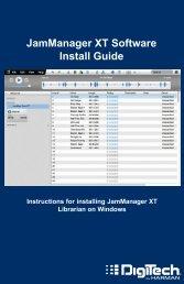 JamManager XT Windows Install Guide - Digitech