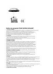Notice du parapluie POUR FAUTEUIL ROULANT - Ergo