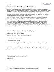 Zaproszenie na I Forum Promocji Zdrowia Kobiet - Radiolog