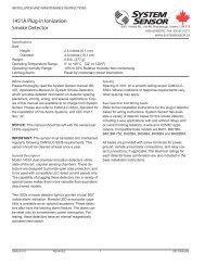 1451A Plug-in Ionization Smoke Detector - System Sensor Canada
