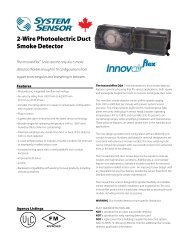 2-Wire Photoelectric Duct Smoke Detector - System Sensor Canada