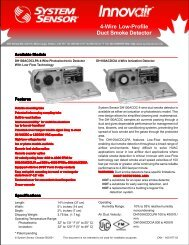 4-Wire Low-Profile Duct Smoke Detector - System Sensor Canada