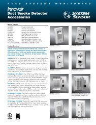 Duct Smoke Detector Accessories - System Sensor Canada
