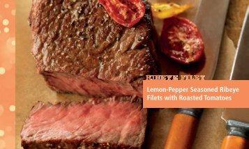Lemon-Pepper Seasoned Ribeye Filets with ... - BeefRetail.org