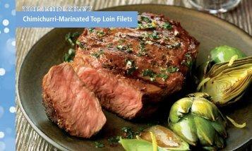 Chimichurri-Marinated Top Loin Filets - BeefRetail.org