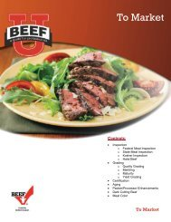 Fact Sheet - Beef Foodservice