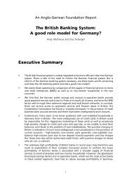 The British Banking System - Anglo-German Foundation