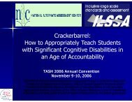 How to Appropriately Teach Students with Significant ... - NAAC