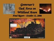 Task Force On Wildland Arson - Kentucky Division of Forestry
