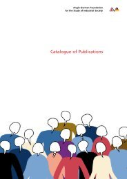 Catalogue of Publications - Anglo-German Foundation