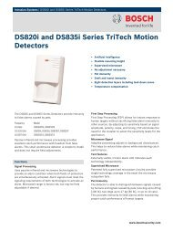 DS820i and DS835i Series TriTech Motion ... - Jacksons Security