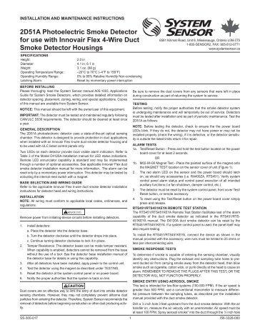 installation instructions system sensor canada?quality=85 rts151 remote test station system sensor system sensor d2 wiring diagram at bayanpartner.co