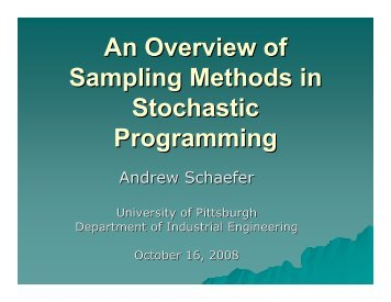 An Overview of Sampling Methods in Stochastic Programming