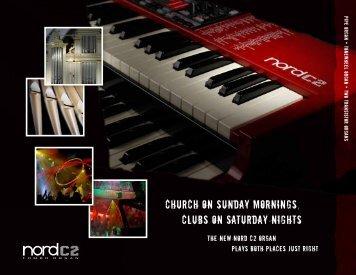 ChurCh on Sunday morningS, ClubS on Saturday ... - Leyman Music