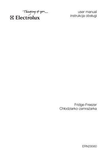 user manual instrukcja obsługi Fridge-Freezer Chłodziarko ...