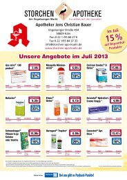 Unsere Angebote im Juli 2013 - Storchen-Apotheke