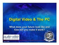 Digital Video & The PC - Audio Video Corporation