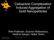 Calixarene Complexation Induced Aggregation of Gold ... - funmat