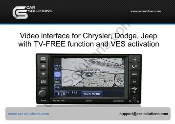 Video interface for Jeep, Chrysler, Dodge