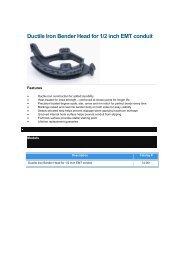 Ideal EMT Bender Guide - Power Line Group
