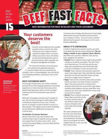 Customer Service - BeefRetail.org