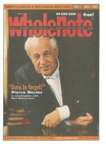 Volume 8 Issue 3 - November 2002