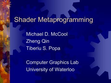 pdf [1 MB] - Graphics Hardware