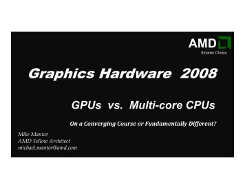 slides - Graphics Hardware