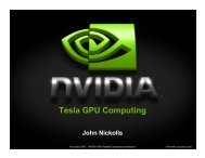 Tesla GPU Computing - Graphics Hardware
