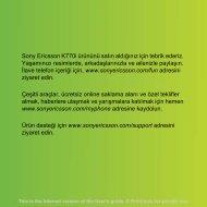 Sony Ericsson K770i ürününü satın aldığınız için tebrik ederiz ...