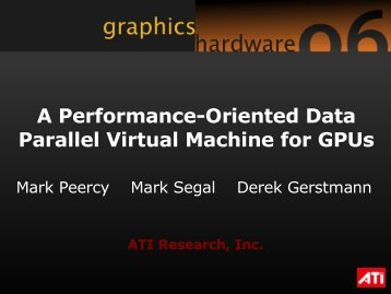 A Performance-Oriented Data Parallel Virtual Machine for GPUs