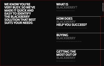 Full BlackBerry Brochure - Fresh Business Thinking