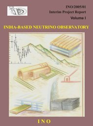 india-based neutrino observatory - The Institute of Mathematical ...