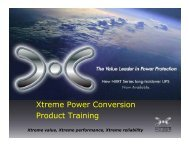 Xtreme Power Conversion Product Training g - Badger ...