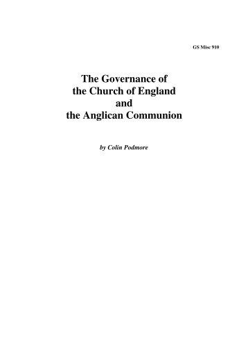 The Anglican Communion - Church of England