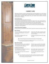 CABINET CARE - Canyon Creek Cabinet Company