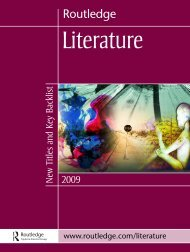 Literature Catalogue 2009 (UK) - Routledge