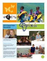 2013 Swazi Kids Newsletter