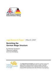 Revisiting the German Wage Structure - Anglo-German Foundation