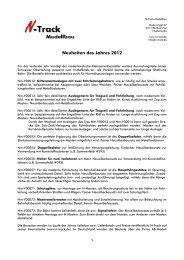 Neuheiten des Jahres 2012 - AB-Modell