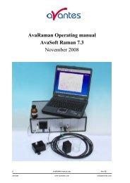 AvaRaman Operating manual AvaSoft Raman 7.3 November 2008