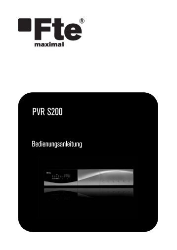 PVR S200 - Fte Maximal