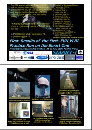 First Results of the First EVN VLBI Practice Run on the Smart One