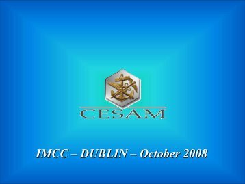IMCC – DUBLIN – October 2008 - IMCC - International Marine ...